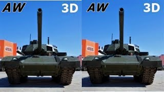 Armored Warfare 3D VR box TV video Side by Side SBS T 14 Armata