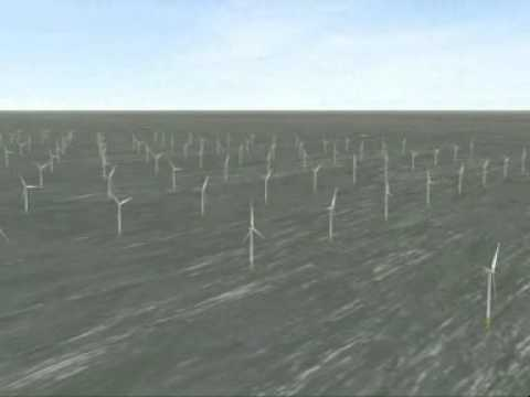 Animation of proposed London Array offshore wind farm