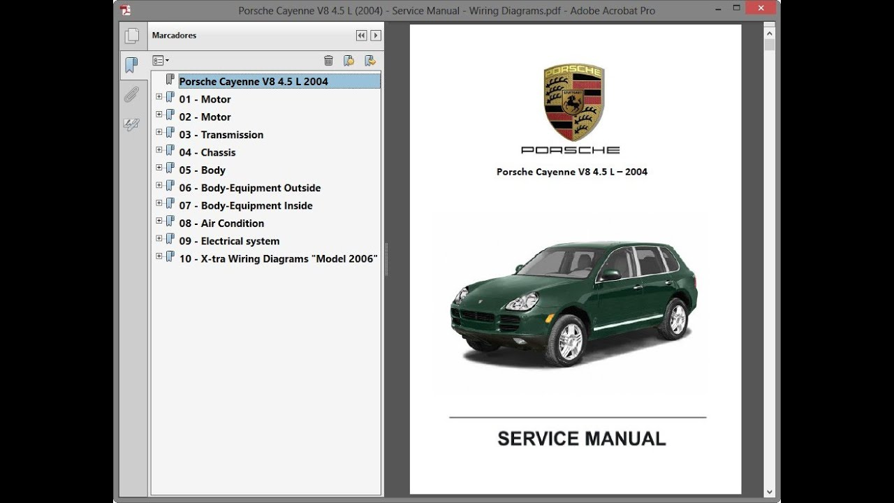 Porsche Cayenne V8 4 5 L 2004 Service Manual Repair Manual Wiring Diagrams Youtube
