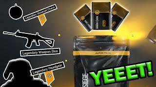 MY BEST Alpha Pack Opening - Rainbow Six Siege