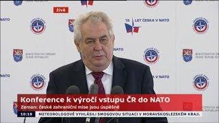 Prezident Zeman: Výdaje na armádu klesají, L-159 hnijí v hangárech