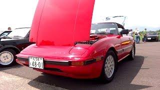 私の車ではありません。 初代RX-7 1983年式 綺麗なエンジンルーム。ゴチ...
