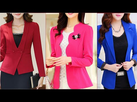 top high Class Selling business woman formal blazars/Coats /Jackets Design 2019/2020