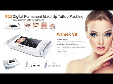 Digital Permanent Make Up Tattoo Machine Artmex V8 Touch Screen With Two Handles  【SEAHEART】