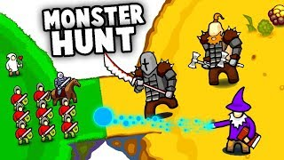 Our ARMY vs Epic SECRET MONSTERS! Can We DEFEAT THEM? (Circle Empires Monster Hunt Gameplay)