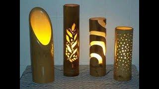 CARA MEMBUAT LAMPU TIDUR UNIK DARI BAMBU