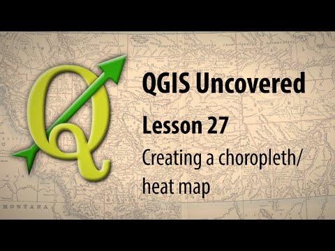 QGIS lesson 27 –Creating a choropleth / heat map