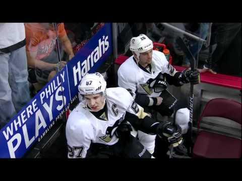 1st period brawl. Pittsburgh Penguins vs Philadelphia Flyers 4/15/12 NHL Hockey