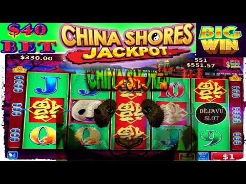 ⭐️ DOUBLE BIG JACKPOT $40 BET ⭐️ HIGH LIMIT SLOT MACHINE CHINA SHORES BONUS