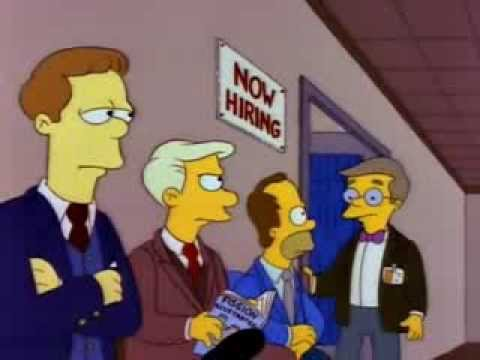 The Simpsons - Homer at a job interview