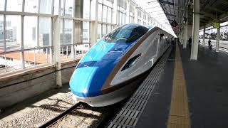 北陸新幹線あさま413号!高崎駅入線から発車までを撮りました(^_^)