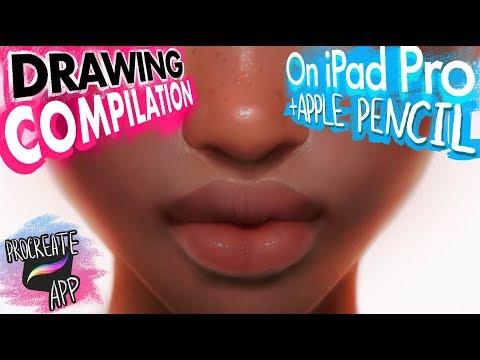 NEW Drawing COMPILATION on iPad Pro + Apple Pencil by BLUESSSATAN. Procreate app