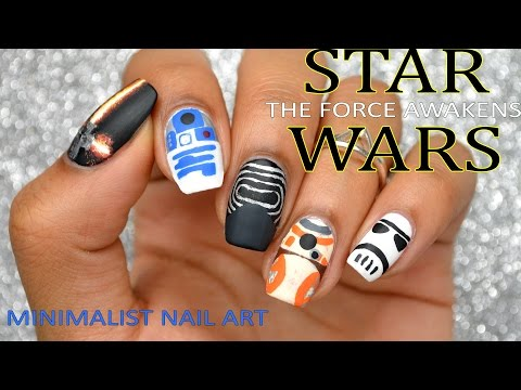 DIY: Star Wars: The Force Awakens (Minimalist Nail Art) for the PREMIERE