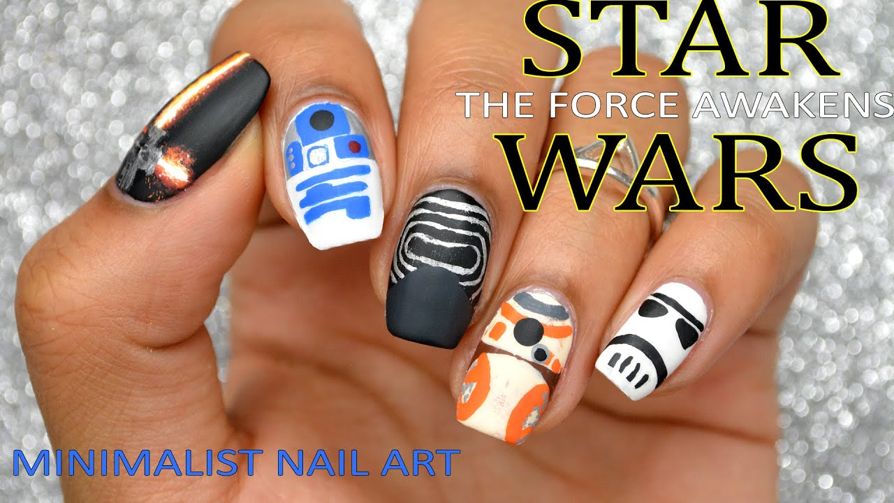 DIY: Star Wars: The Force Awakens (Minimalist Nail Art) for the ...