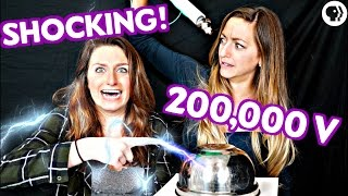 DIY Lightning Experiment! Make a SHOCKING Capacitor