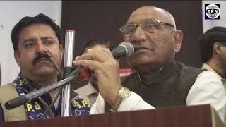 Vedram Bhati Ex BSP MLA speaks during BSP members convention at Awadh Greens   Gr Noida