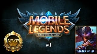Hayabusa MVP + building - Gameplay #1- mobile legends | Mobile legends MPV only
