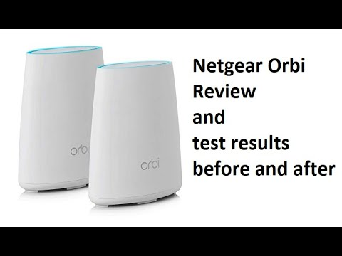 Netgear Orbi rbk40 review and speed test results before and after