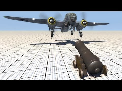 Cannon Shooting At Planes - BeamNG.drive