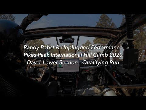 Randy Pobst & Unplugged Performance - Pikes Peak 2020 Day 1 -  Lower Section Qualifying Leader