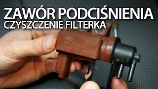 Czyszczenie filterka zaworu podciśnienia w 2.0 i 1.6D, TDCi, HDi (Ford Volvo Peugeot Citroen)