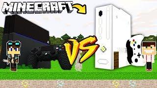 ZAMEK PLAYSTATION VS ZAMEK XBOX W MINECRAFT!