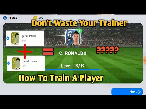 How To Train A Player In PES 2020 Mobile ||  How To use a Trainer image