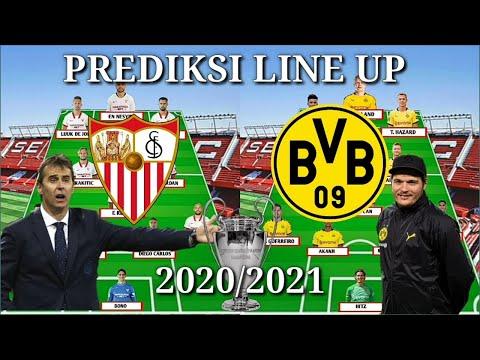 Sevilla Vs Dortmund 16 Besar Liga Champions 2020/2021 Prediksi Line Up