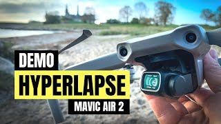 DJI MAVIC AIR 2 HYPERLAPSE TEST UNDER REAL CONDITIONS (free samples) // Mavic Air 2 Features