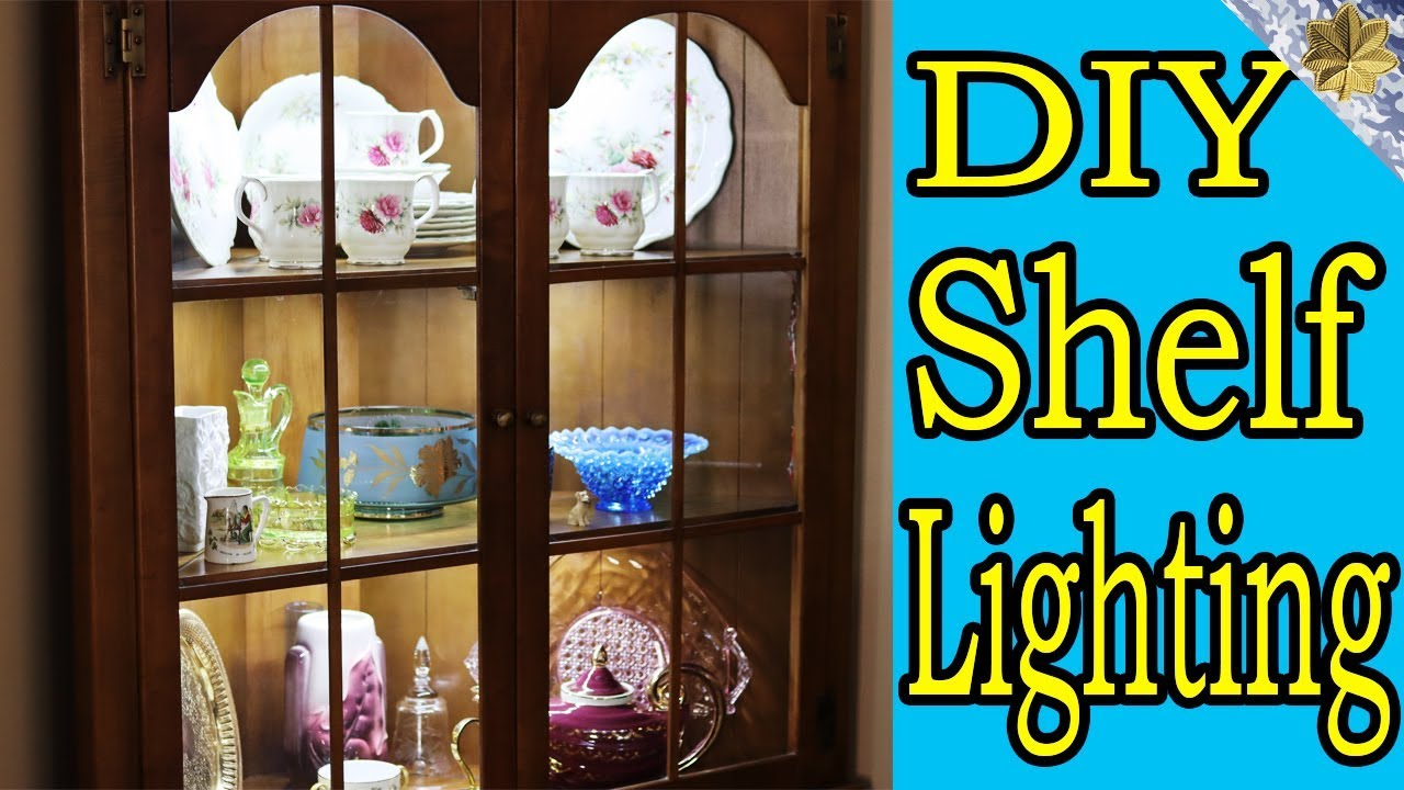 How To Install Led Strip Lights Hutch Under Cabinet Shelving