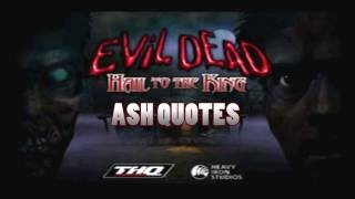 Evil Dead: Hail to the King - Ash Quotes PS1
