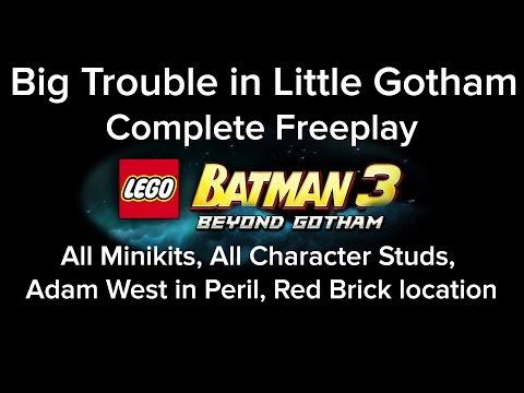LEGO Batman 3 Big Trouble in Little Gotham Freeplay All Mini Kit Red Brick Characters Adam West Loca