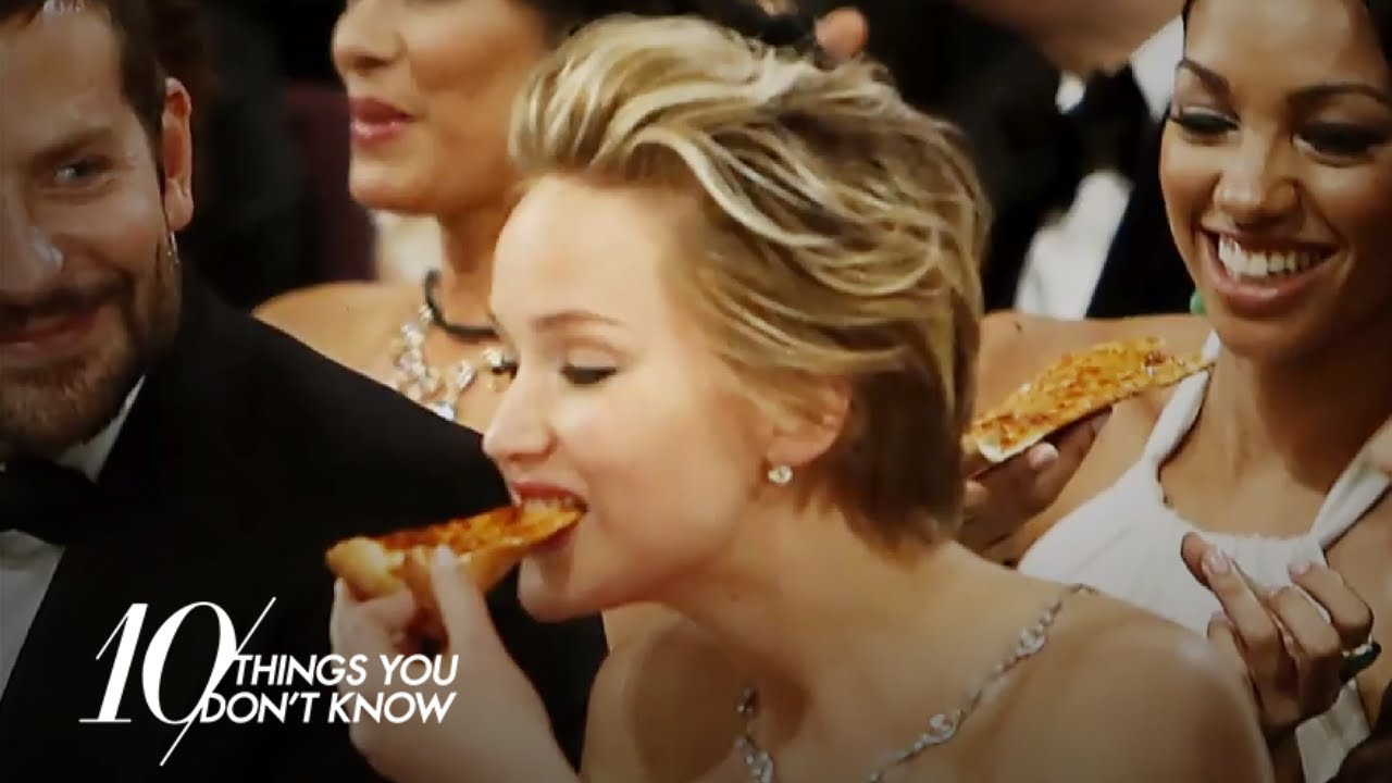 Jennifer Lawrence Snuck Food Into the 2014 Oscars? | 10 Things You Don't Know