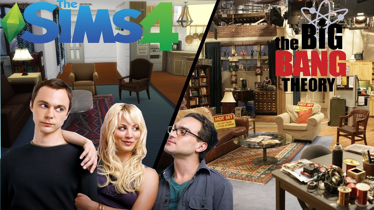 Bang Theory Apartment Tv Set Recreation The Sims 4 Sd Build