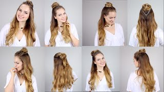 5 Ways to rock the Half Top Knot - Super easy and fast!