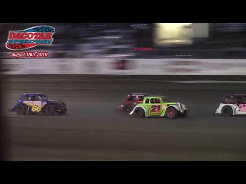 Dacotah Speedway INEX Legends A-Main (8/16/19)