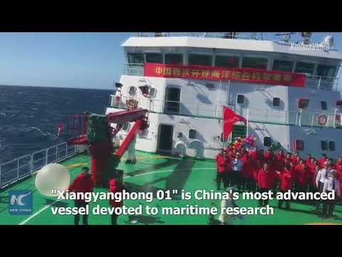 China's expedition ship crosses prime meridian during around-the-world maritime research