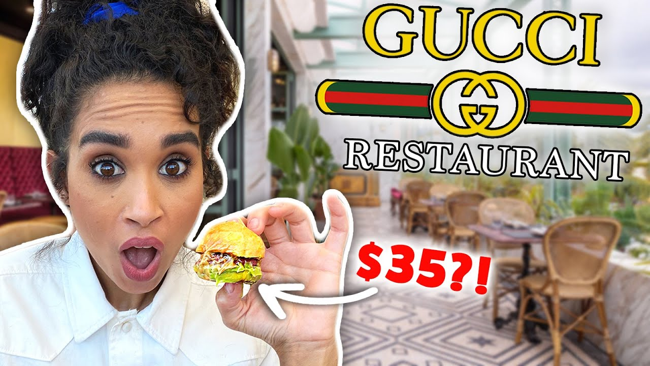 Eating EVERYTHING on the GUCCI Restaurant Menu!!
