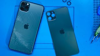 iPhone 11 pro max back glass repair without take out LCD