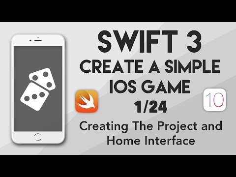 Swift 3 Create A iOS Game #1 - Creating The Project and Home Interface