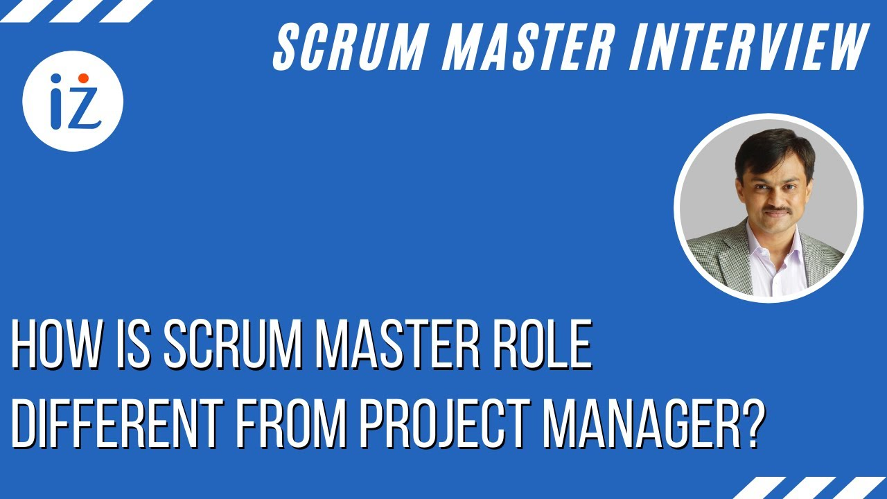 How Is Scrum Master Role Different From Project Manager Youtube
