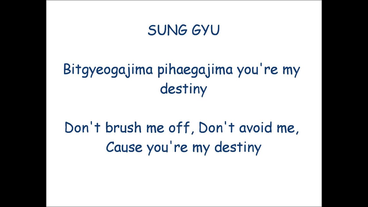 INFINITE - Destiny Lyrics (Romaji) + Eng Subs