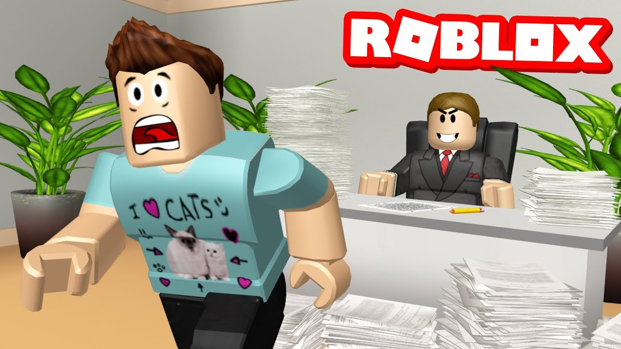 Roblox Adventures Escape From The Office Obby Escaping My Evil Boss Youtube Roblox Office Obby Youtube