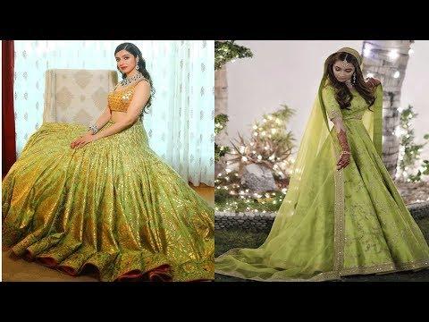 beautiful-latest-lime-green-designer-lehenga-designs||lime-green-lehenga-for-wedding-functions