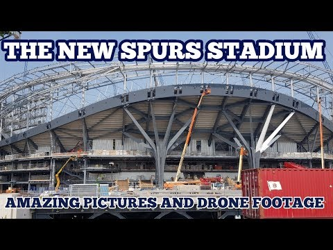THE NEW SPURS STADIUM: Pictures and Drone Footage of Tottenham's New Home (The New White Hart Lane)