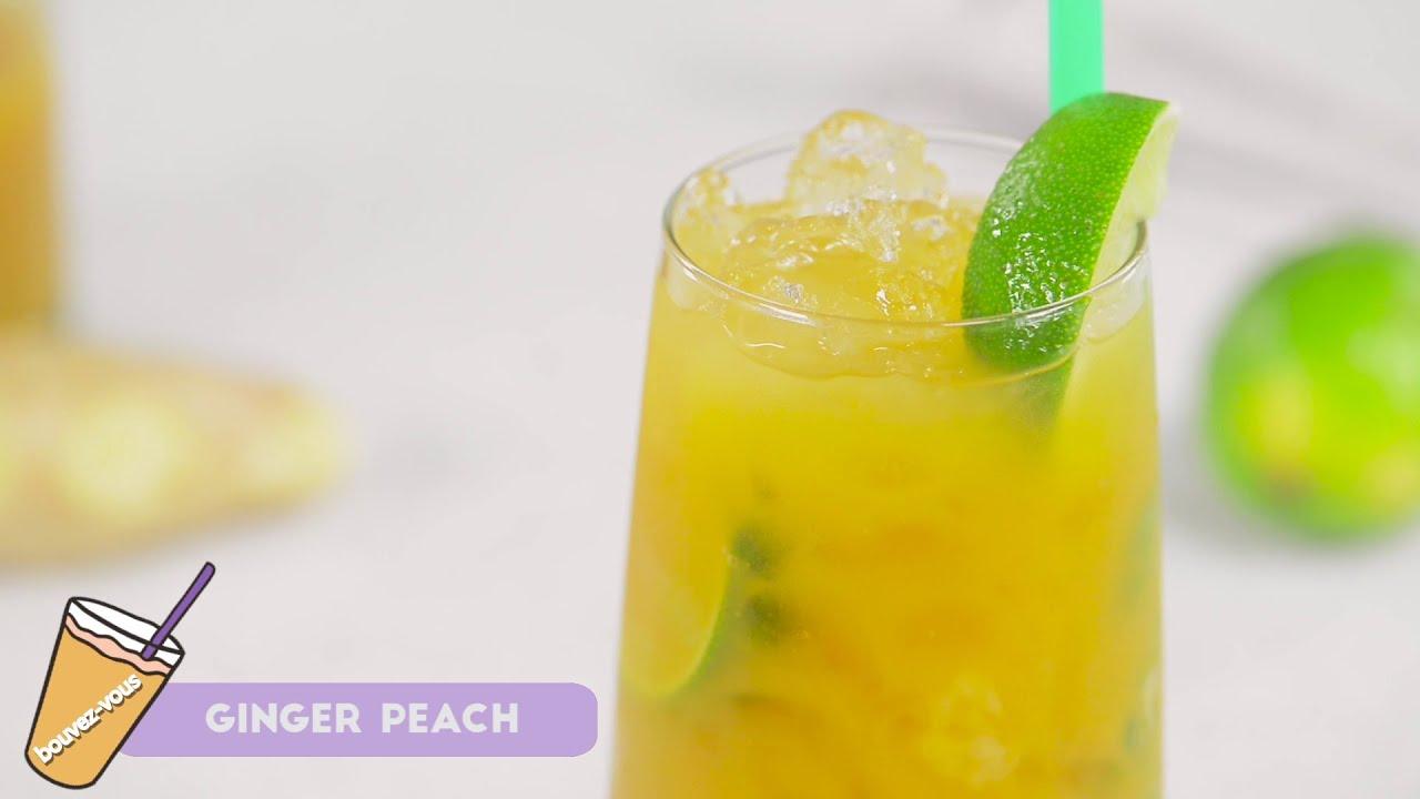 Reteta - Cocktail fara alcool Ginger Peach | Buvez-vous