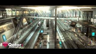 Al Rail (Qatar Railways) - Doha Metro station visual HD