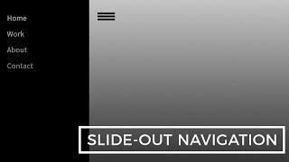 Slide Out Navigation   HTML, CSS & JavaScript