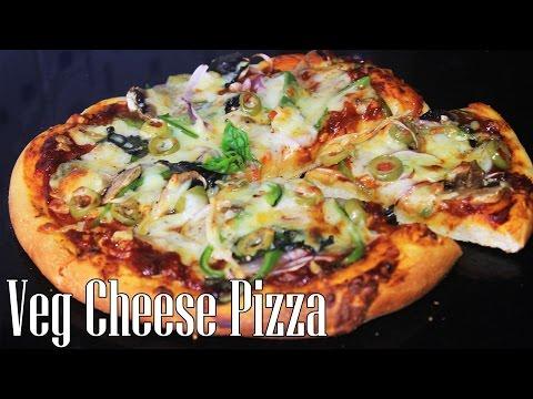 Easy Tasty Veg Cheese Homemade Pizza Recipe