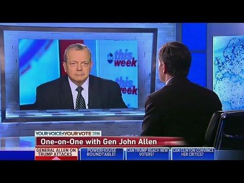 General John Allen responds to Donald Trump